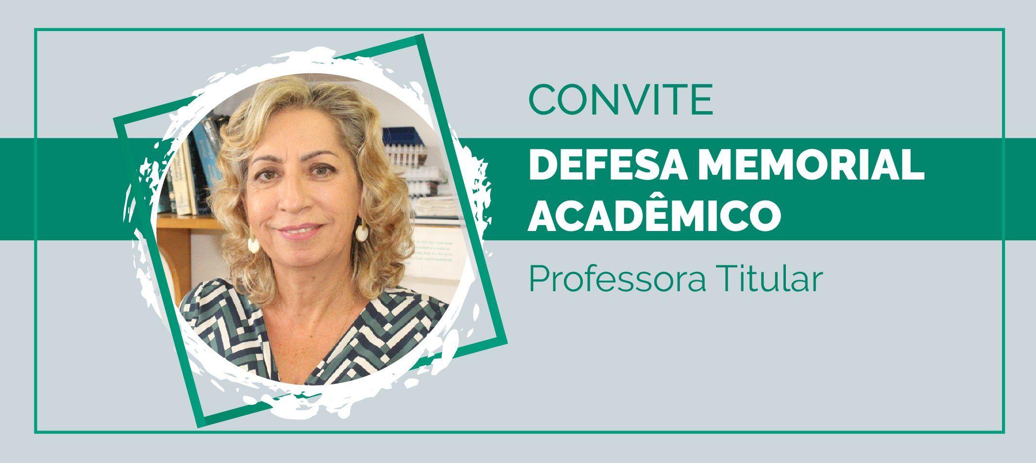 Professora Ana Cristina Belarmino defende memorial nesta terça-feira, 17