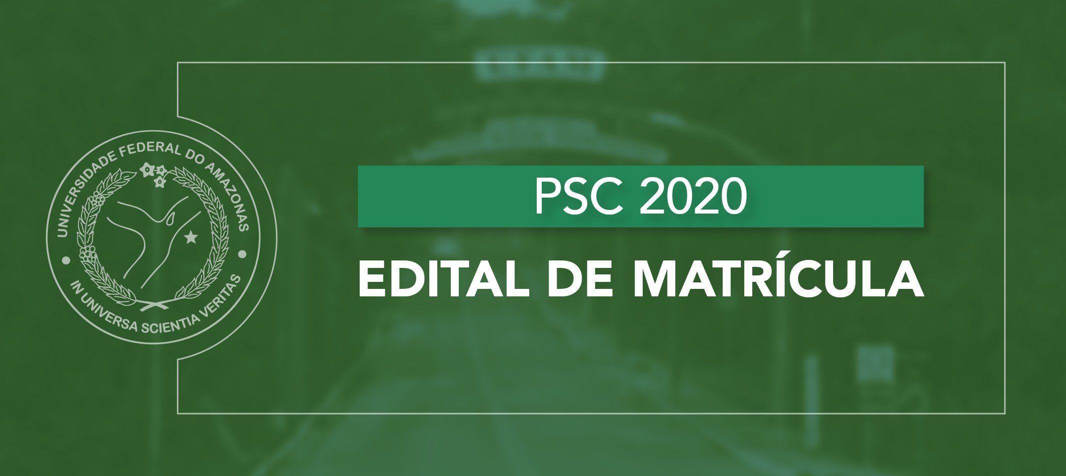 Proeg divulga retificação no edital de matrícula institucional aos classificados PSC 2020