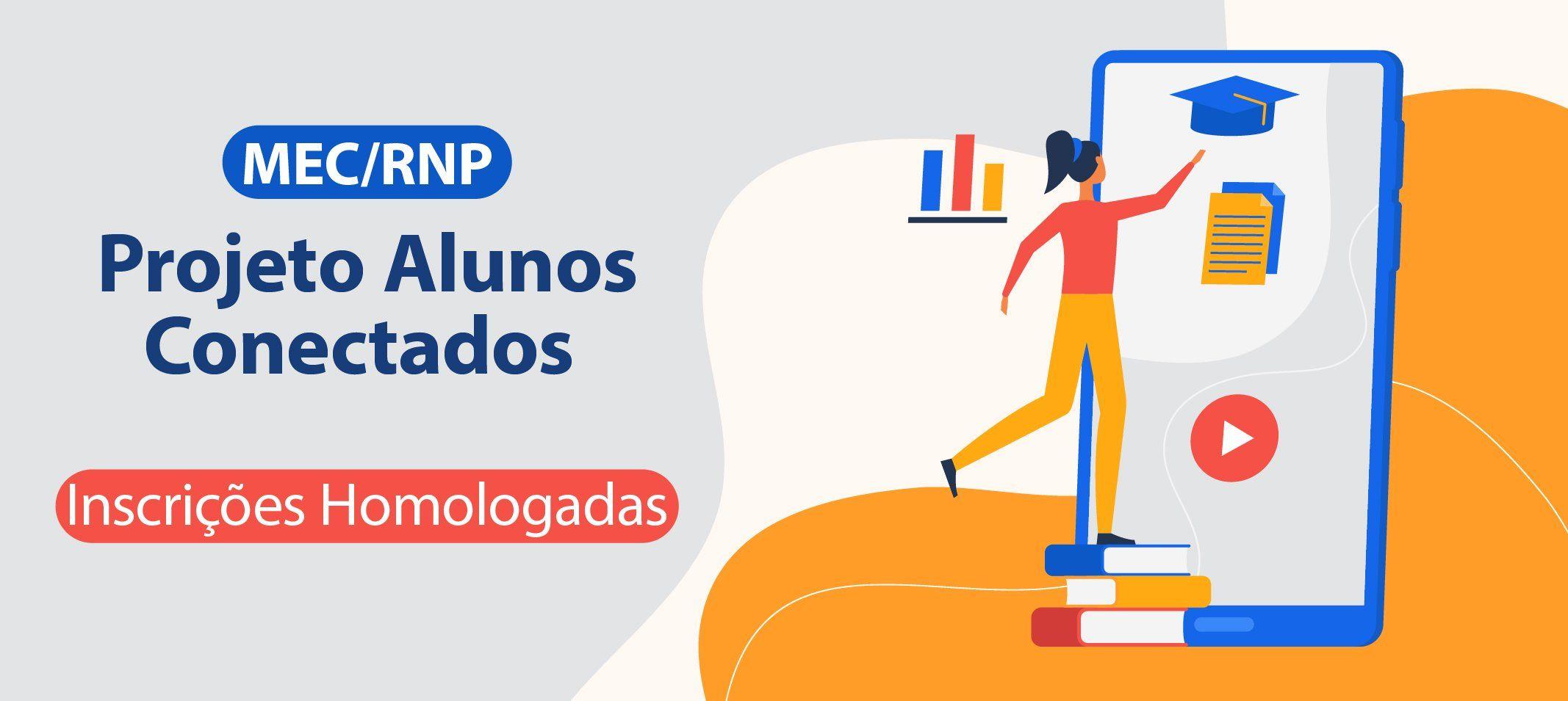 Projeto Alunos Conectados do MEC/RNP contempla mais de 1700 discentes com chips e serviços de internet