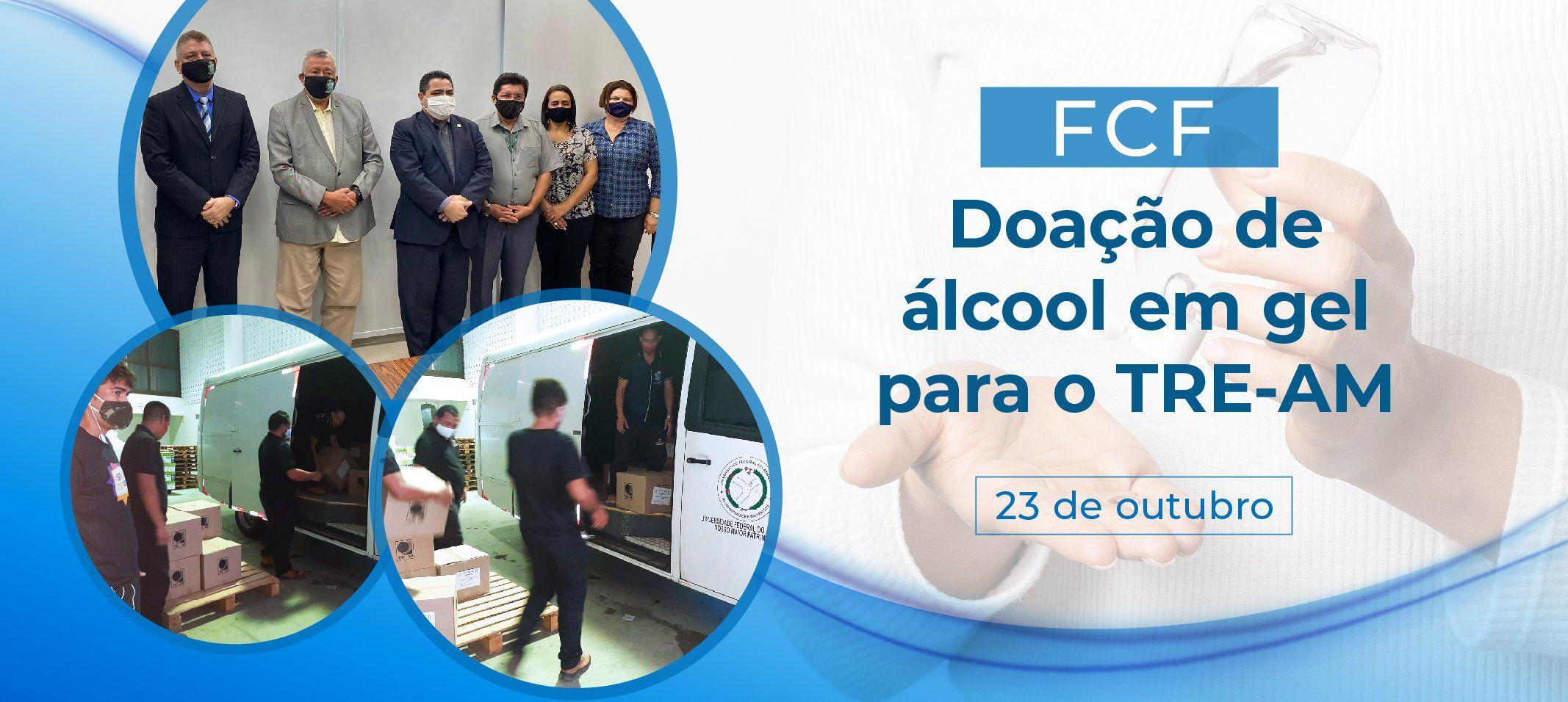 Ufam apoia TRE-AM nas eleições  com doação de 2 mil litros de álcool gel