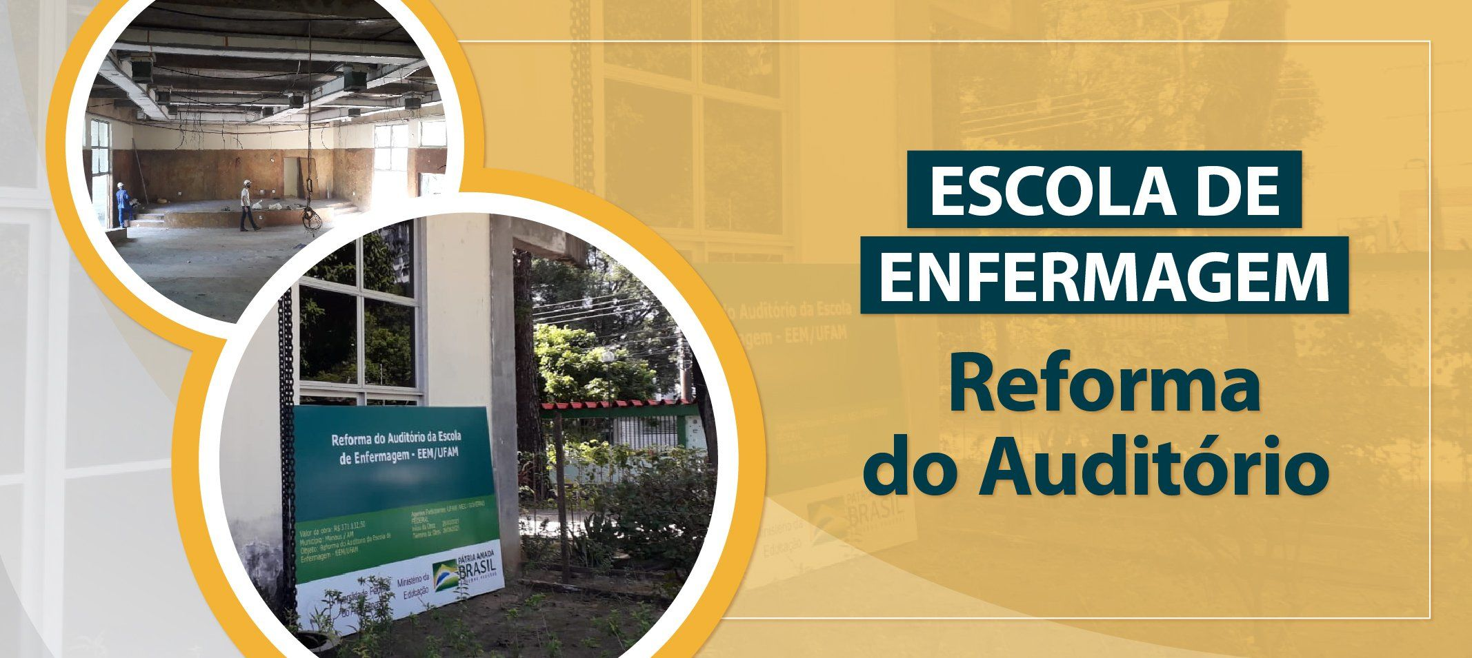 Prédio da Escola de Enfermagem de Manaus ganha acessibilidade e reforma do auditório