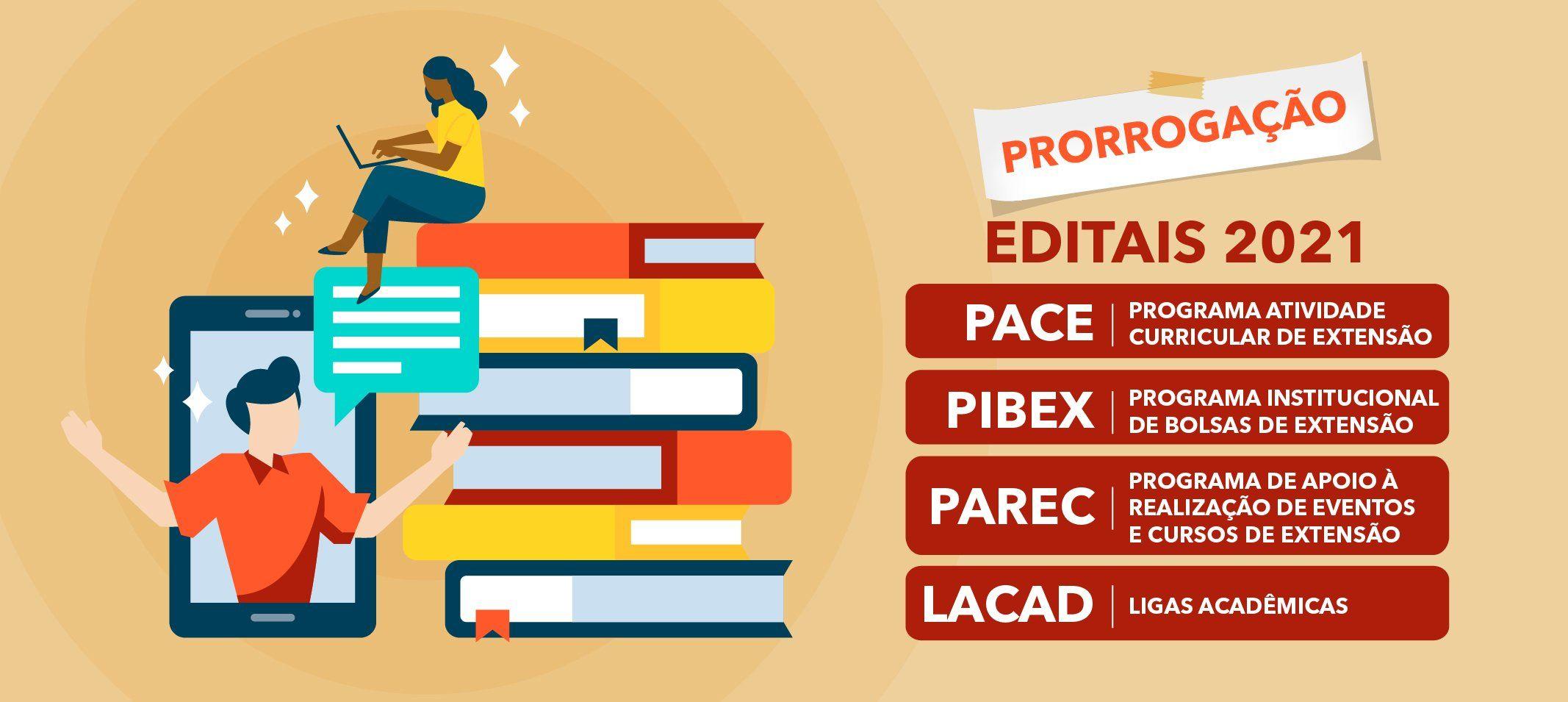 Prorrogação das submissões de Propostas – Editais 2021