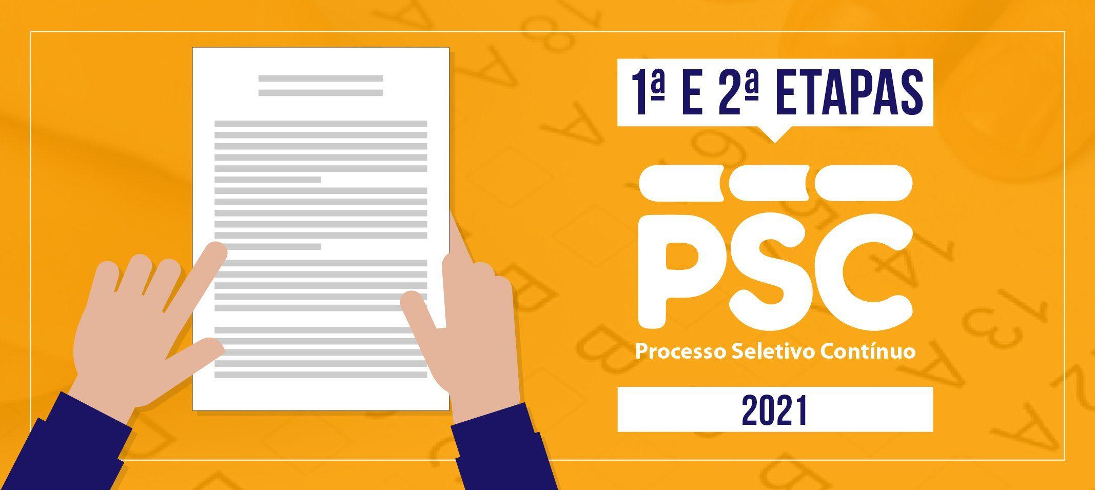Compec publica editais de abertura para o Processo Seletivo Contínuo - PSC 2021 - 1ª Etapa e  Processo Seletivo Contínuo - PSC 2021- 2ª Etapa